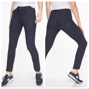 Athleta Sculptek High Rise Dark Wash Skinny Jeans